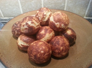 Fresh out of the pan Aebleskiver.